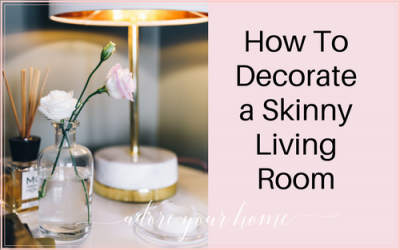 How To Decorate a Skinny Living Room!